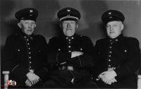 Sie bauten die Wehr ab 1946 wieder auf (von links)_ Heinrich Baden sen., Hannes Behrens, Wilfried Burgdorf. Quelle_ Archiv Wilhelm Burgdorf